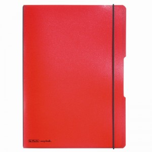 Caiet My Book Flex A4 2x40 file rosu Herlitz