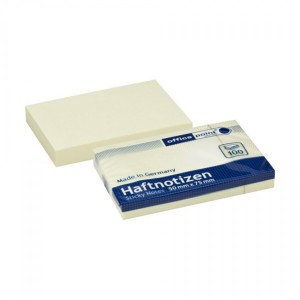 Notes adeziv 50 x 75 mm 100 file Office Point