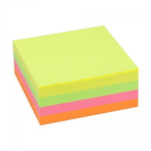 Notes adeziv 75 x 75 mm mix neon Office Point