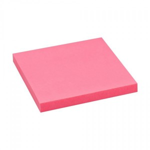 Notes adeziv 75 x 75 mm roz neon Office Point