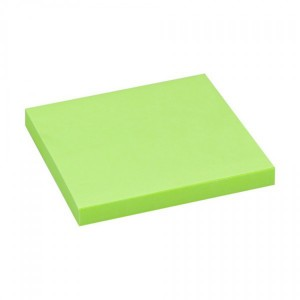 Notes adeziv 75 x 75 mm verde neon Office Point