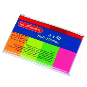 Index adeziv 20x50 neon Herlitz